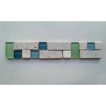 Venecita Guardas Mosaicos Combinados De Vidrio Y Travertino