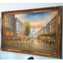 Quadro Clássico Pintura Óleo Sobre Tela Antigo - Paris
