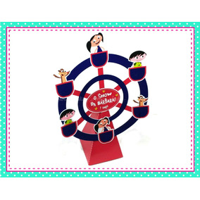 5 Centro De Mesa Roda Gigante Caixa Tag Festa Show Da Luna
