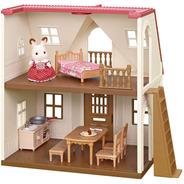 Minha Primeira Casa Sylvanian Families Com Móveis E 1 Coelha