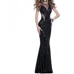 Vestido Largo De Noche Negro