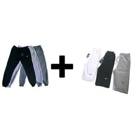 Kit 1 Calça Nike + 1 Bermuda Nike Moletom Masculina Premium