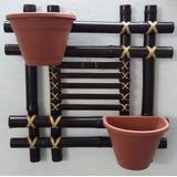 Cachepo De Bambu Vaso Presente Orquídea Decoração