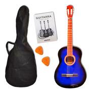 Guitarra Criolla 3/4 Niños Clásica Con Funda Colores Cuotas