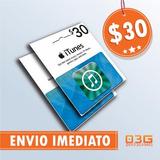 Itunes Gift Card $30 Cartão Ipod Iphone Ipad Mac App Store