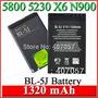 Bateria Nokia 5800 5230 5235 X6 C3 Bl5j Bl-5j Original 100%
