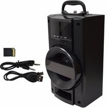 Bocina Amplificada Karaoke Sd Usb Fm Mp3 Recargable Mic1 Y 2