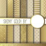 Kit Imprimible Pack Fondos Oro Dorado 1 Clipart