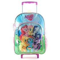 Mochila My Little Pony 16 Pulgadas Con Carro 88603 Original!