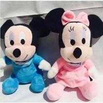 Kit 2 Pelucias Minnie E Mickey De Pelúcia Baby