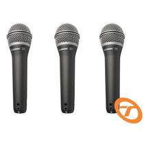 Kit 3 Microfones Samson Vocal Q7 Original Q 7 Frete Grátis