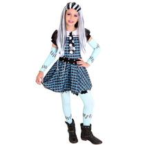 Fantasia Luxo Monster High Frankie Xadrez Tam M
