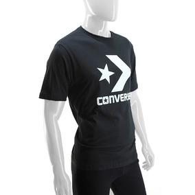 Remera Converse Original Algodon Negro Hombre Deporfan