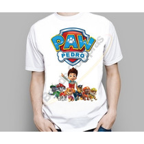 Camiseta Camisa Infantil Patrulha Canina Personalizada Nome