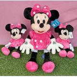 Kit Minnie Rosa De 50 Cm + 2 Minnie Rosa De 27 Cm