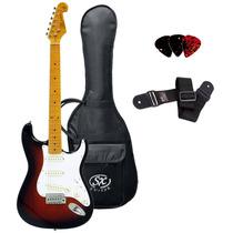 Guitarra Sx Sst 57 Strato 2ts C/ Bag + Correia + Palhetas