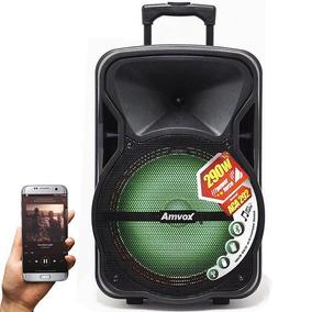 Caixa Som Bluetooth Amplificada Com Bateria Recarregavel Led
