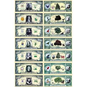 Cédulas * Estados Unidos * Coleção Completa 50 Estados