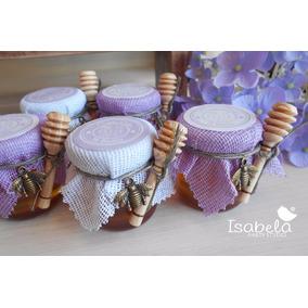 Recuerdo Miel Abejita Cuchara Miel Baby Shower Color Lilac