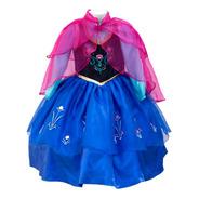 Vestido Anna De Frozen Princesa Disfraz