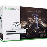 Consola Xbox One S, 500gb, Con Juego Shadow Of War - Bundle