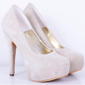 Stilletto Fino De Cuero Crudo Modelo Loreley De Shoes Bayres