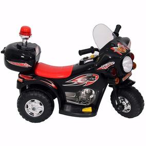 Moto Elétrica Infantil Triciclo Policial 2 A 4 Anos Preto