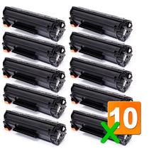 Kit C/10 Cartucho Toner Hp P1102w M1132 M1135 Ce285a 85a