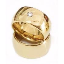 Par Aliança Ouro18k 20g 8mm Brilhante Casamento Frete Grátis