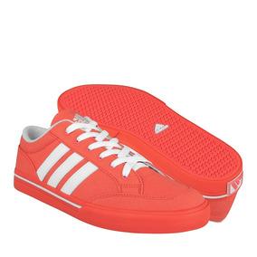 Tenis Casuales adidas Para Hombre Textil Rojo Con Blanco B24