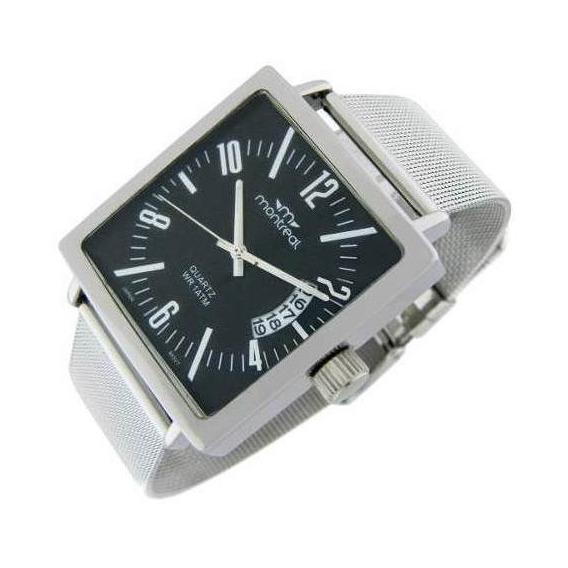 Reloj Montreal Hombre Ml513 Malla Acero Envío Gratis