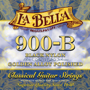 La Bella 900b Guit. Clasica Nylon Dorado Y Negro Profesional