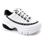 Tênis Feminino Dad Chuncky Sneaker Ramarim 2180104 Branco