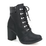 Bota Ankle Boot Coturno Feminino Dakota B9572 Preto