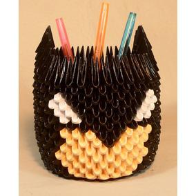Lapicero Batman En Papel De 11 Cms. (origami 3d)