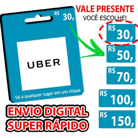 Cartão Uber Vale Presente Pré-pago | Crédito Taxi 99 Cabify