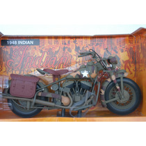 Motocicleta Militar Indian 1948 Marca New Ray Nueva 1/6