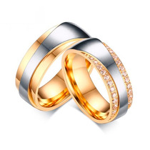 Alianças Banhadas Folheadas Ouro Prata Casamento Grossa