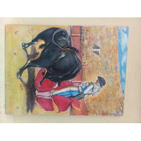 cuadro taurino original oleo de ramn gortaire - Cuadros Originales Hechos A Mano