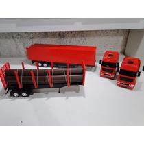 02 Caminhão Bau E Tora Florestal Bitrem Volvo Scania Merced