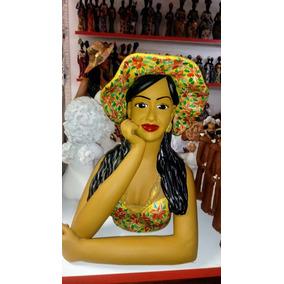 Boneca Namoradeira 50 Cm Feita De Barro.