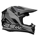 Capacete Asw Image Race 14 Cinza 63/64 Rs1