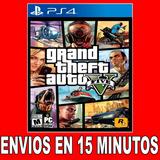 Gta 5 V Ps4 Digital Subs En Español Grand Theft Auto G12