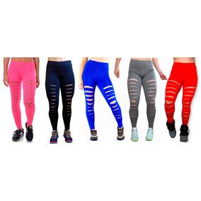Calça Legging Rasgada Destroyed Promoção Fitness Academia A