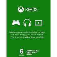 Xbox Live Gold 6 Meses Código Digital Oficial Brasil
