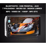 Radio Auto Doble Din 7 1080p 60wx4 Bluetooth Tactil Mp3 Mp5