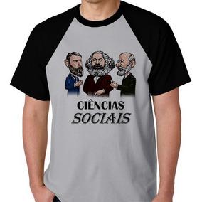 Camiseta Camisa Ciências Sociais Faculdade Unissex Raglan