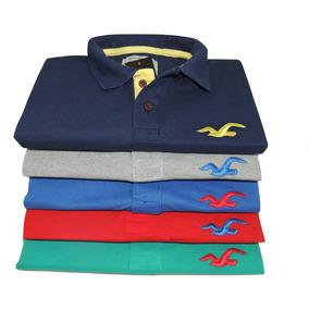 Kit 5 Camisetas Camisa Polo Hollister 100% Algodão Atacado