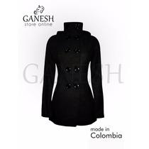 Gabán Británico Elegante Ganesh Paño Cachemir