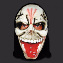 Disfraz Mascara Latex Calavera Piercing Spook Halloween